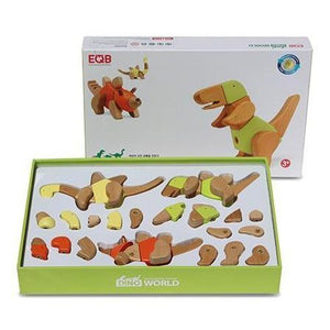 EQB BLOCK -DINO WORLD 3 SET [EQB 공룡 나무 블럭]