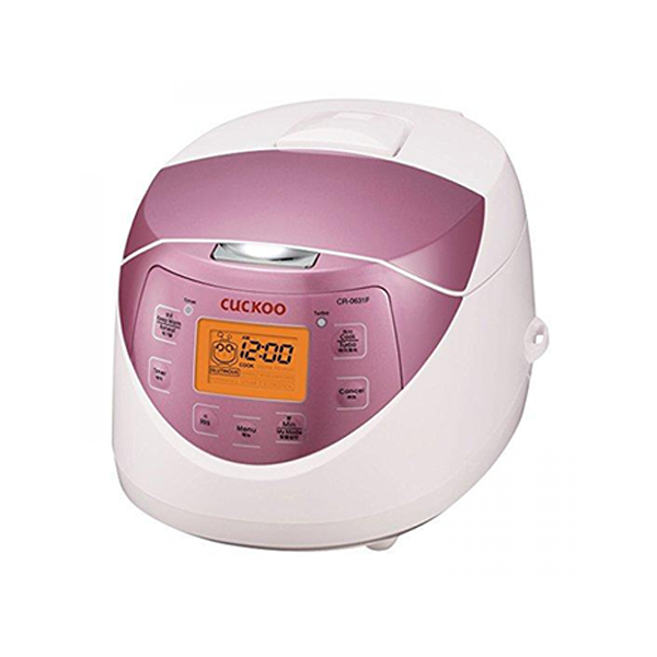 CUCKOO - WARMER RICE COOKER 6CUP WHITE PINK (KGCRP-0631F) [쿠쿠 보온 밥솥 6인분 화이트/핑크]