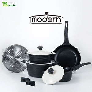 ECORAMIC MODERN IH POT 5PC SET [에코라믹 모던 IH 냄비세트]