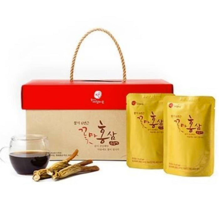 Red Ginseng Extract Drink 80ml (30 Packs per Box) 꽃마홍삼 추출액 80ml * 30포