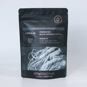 COFILIA FERMENTED BLACK GINSENG COFFEE + RED GINSENG SYRUP SET