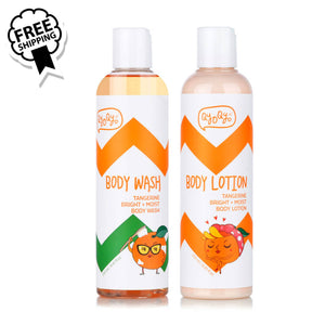 Qyo Qyo Tangerine Bright+Moist Body Lotion + Wash 2종세트