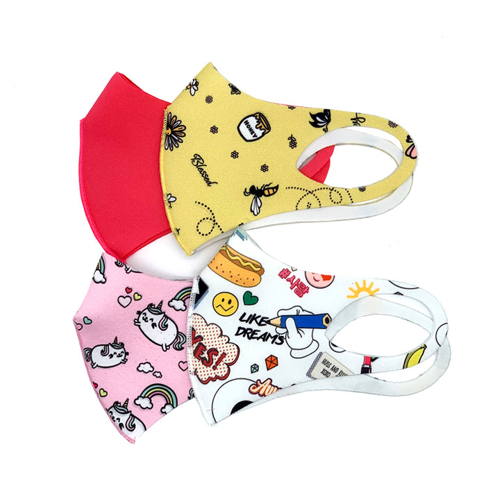 CROSSI FASHION MASK KIDS GIRLS 4PCS