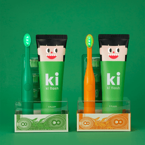 KI FLASH LED TOOTHBRUSH & TOOTHPASTE SET