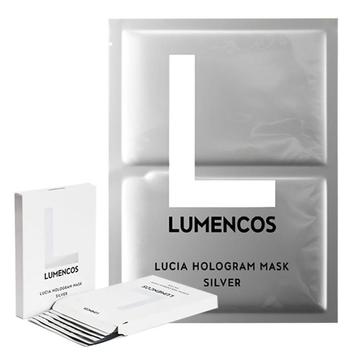 Lucia Hologram Face Mask Silver