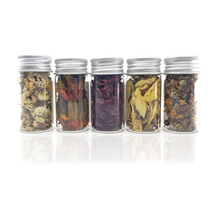 Premium Handmade Wildflower Tea Green Tea, Finest Quality 5 Assorted Blooming Tea Flowers Collection