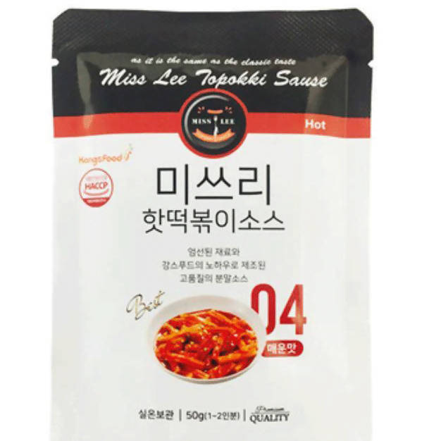 Miss Lee Tteokbokki Powder Sauce Level 4 (3 Packs Per Order)