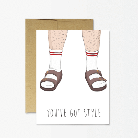 Socks and Sandals Dad Card
