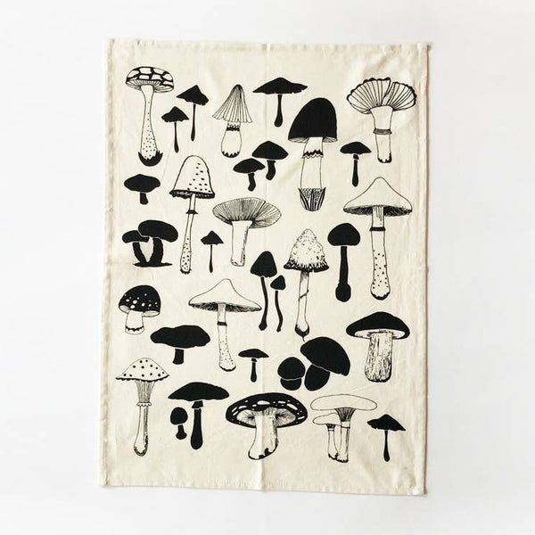 Mushrooms Kitchen Towel - Natural