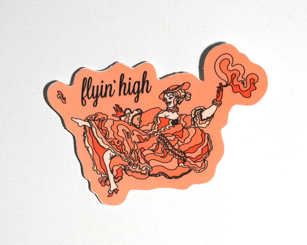 Flyin' High Sticker