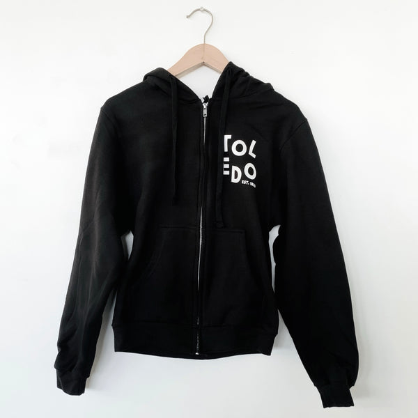 Black Toledo Zip Up