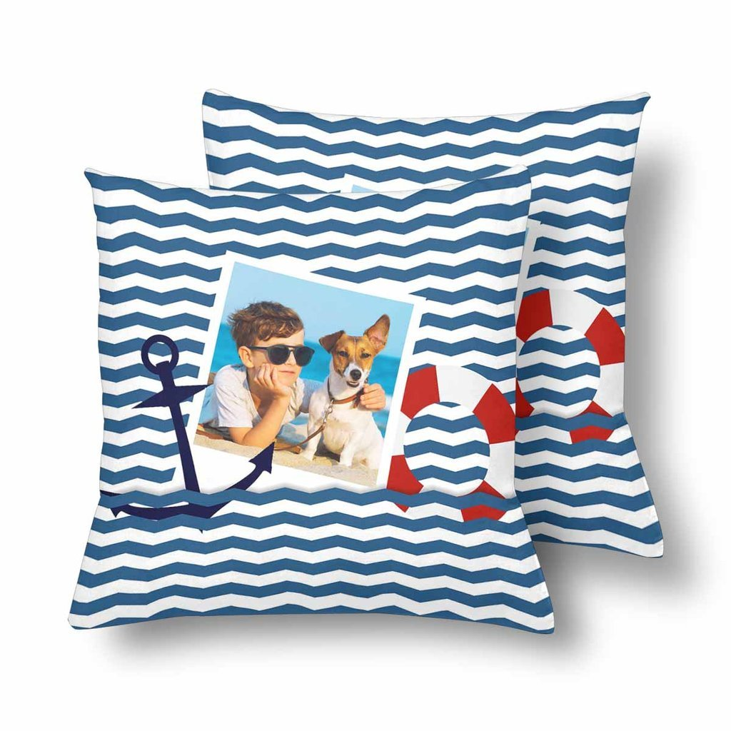 Custom Pet Lover Sailor Photo Pillow - Make Custom Gifts