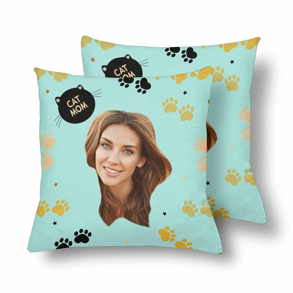 Custom Cat Mom Photo Pillow - Make Custom Gifts