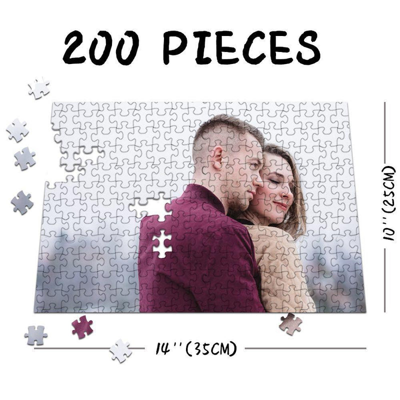 Custom Photo Jigsaw Puzzle Happy Family Stay At Home Gift 35-1500 Pieces