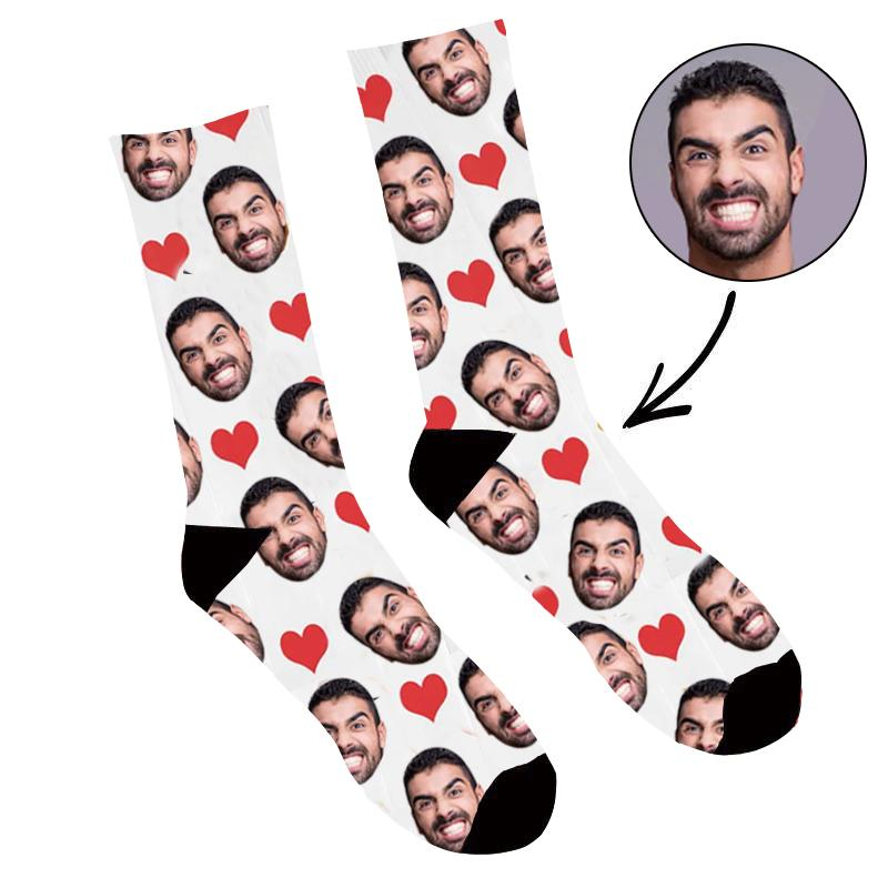 Custom Photo Socks Heart
