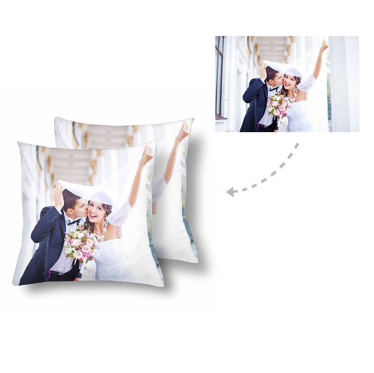 Custom Couple Photo Pillow - Make Custom Gifts