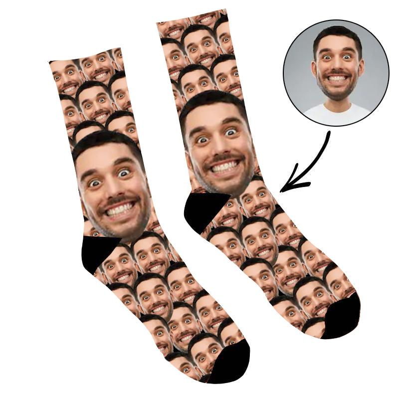 Custom Photo Socks Funny Mash