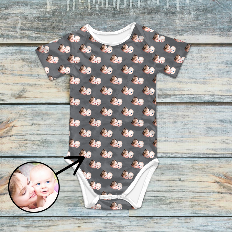 Custom Photo Baby Bodysuit I Love My Family