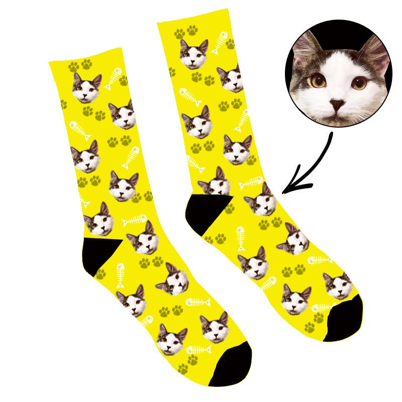 Custom Face Socks Your Cat On Socks
