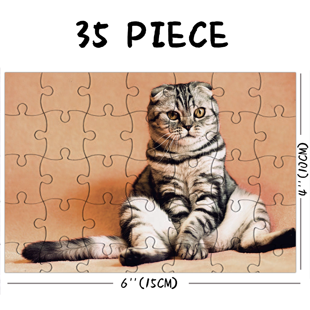Custom Photo Jigsaw Puzzle My Cute Cat Stay At Home Gift 35-1500 Pieces