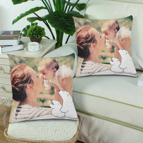 Custom Mother's Day Photo Pillow - Make Custom Gifts