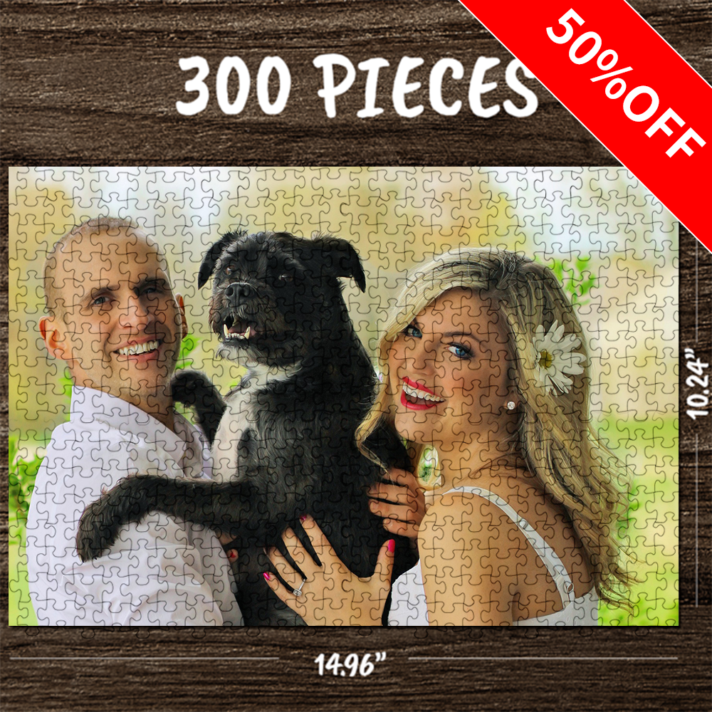 Custom Photo Jigsaw Puzzle Our Love Memory Stay At Home Gift 35-1500 Pieces