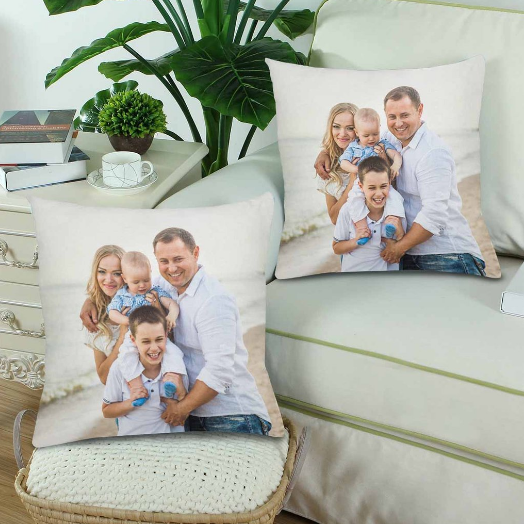 Custom Family Photo Pillow - Make Custom Gifts