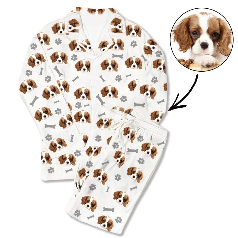 Custom Photo Pajamas Dog Footprint