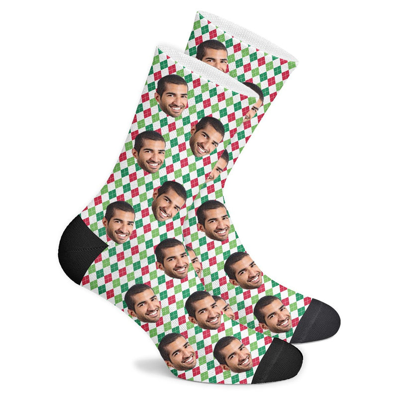 Custom Holiday Argyle Socks