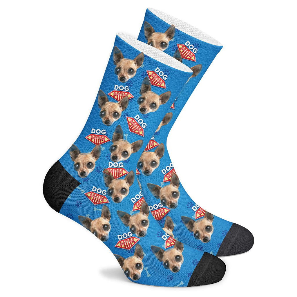 Custom Dog Mom Face Socks Photo Socks - Make Custom Gifts