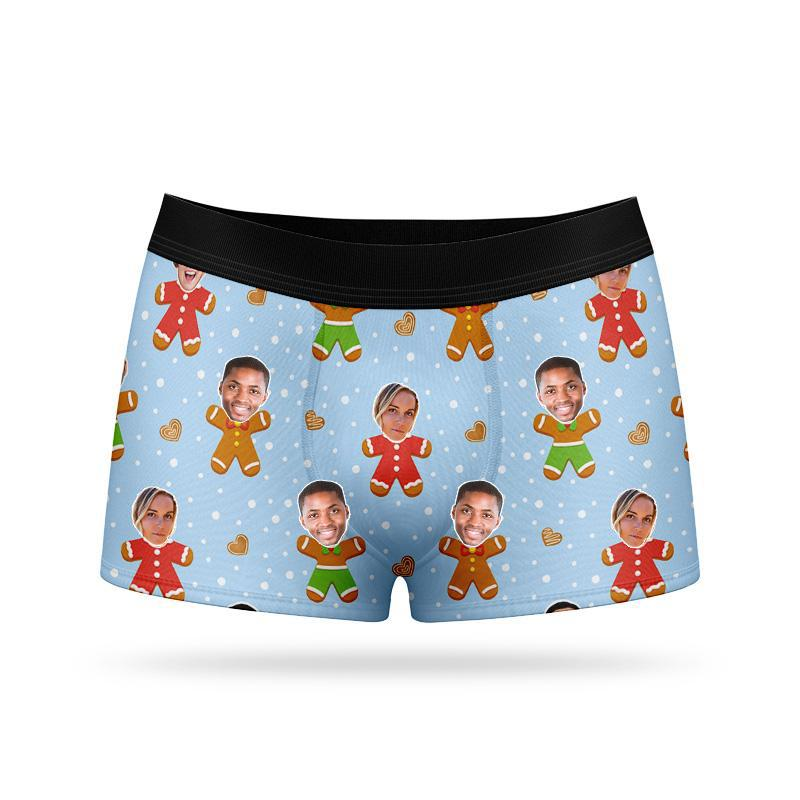 Custom Face Boxers - Gingerbread