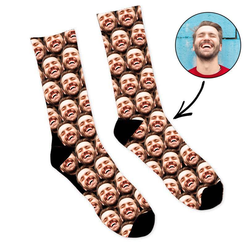 Custom Mash Face Socks Father's Day Socks