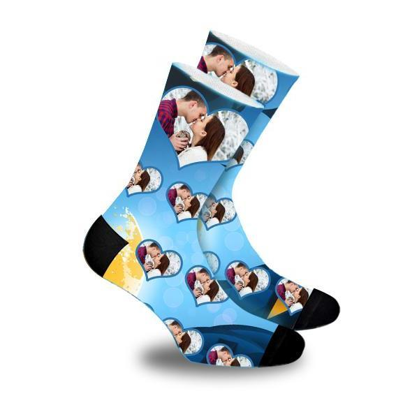 Custom Music Notation Face Socks Photo Socks