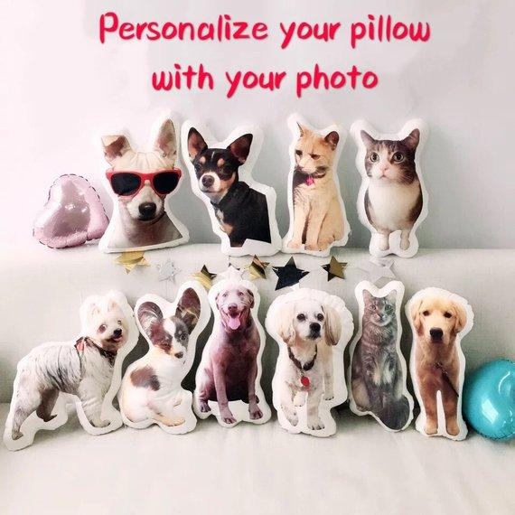 Custom Dog Face Photo Pillow