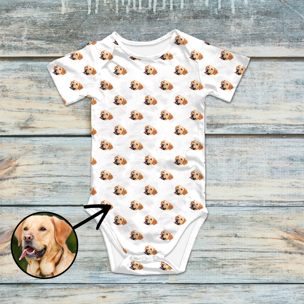 Custom Photo Baby Bodysuit I Love My Dog
