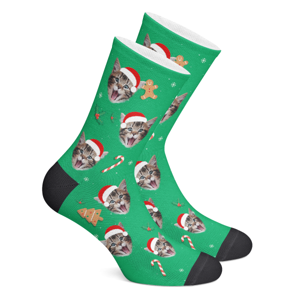 Custom Socks Christmas Hats Photo Socks - Make Custom Gifts