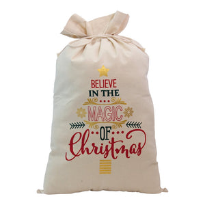 "Santa Bag "" Believe in the Magic of Christmas """