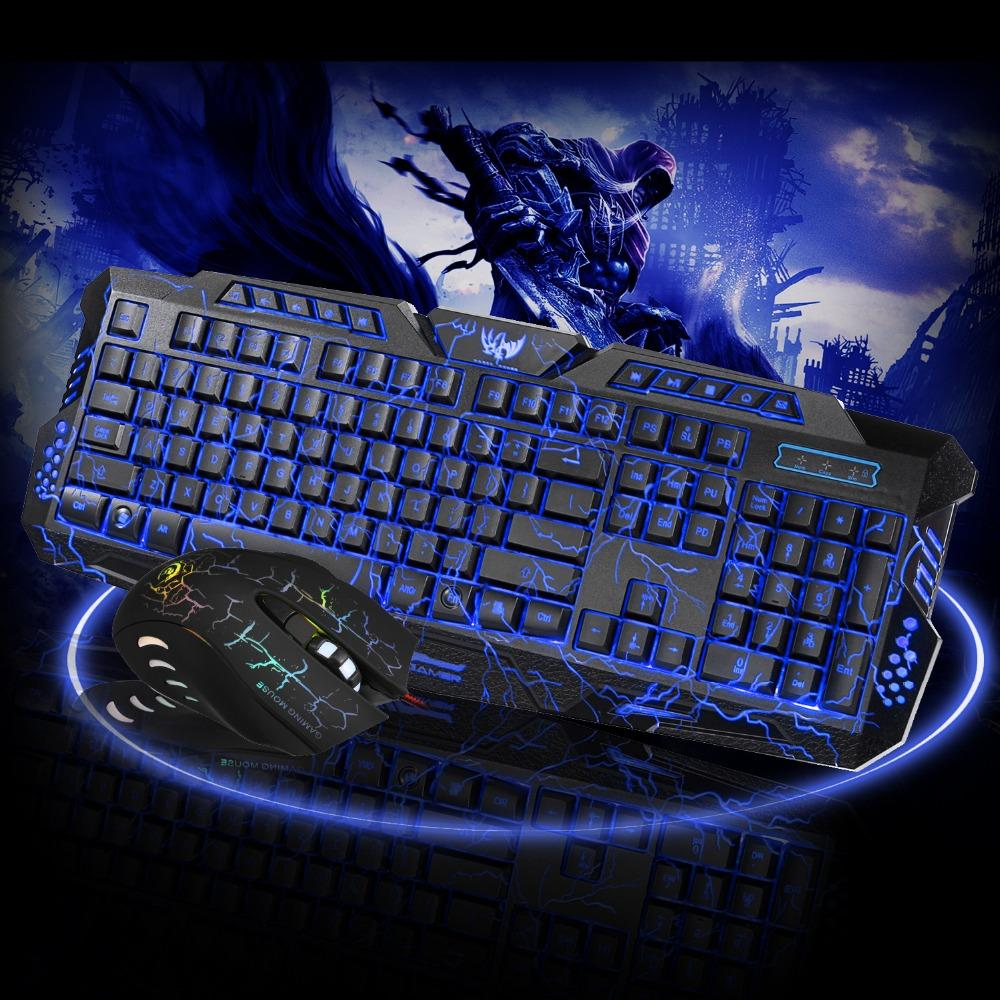 Multi-Color Back-lit Wired Gaming Keyboard and Gaming Mouse Bundle - Get It Gamer