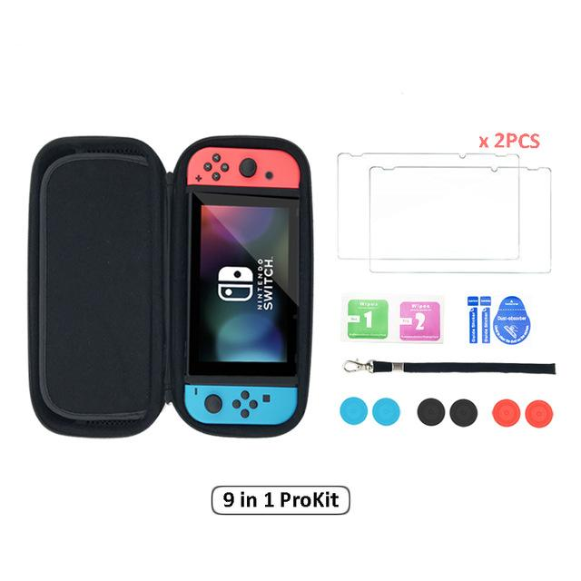 11 in 1 Tempered Glass Screen Protector and Case For Nintendo Switch - Get It Gamer