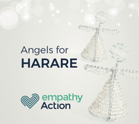 Angels crafted by rehabilitated homeless in Harare.