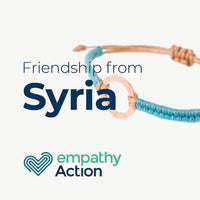 Friendship bracelets created by Syrian refugees displaced in Turkey.