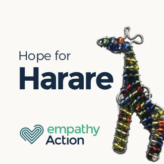Car key ring crafted by rehabilitated homeless in Harare.