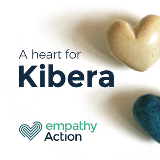 Soapstone hearts that support children in the world's largest slum in Kibera.
