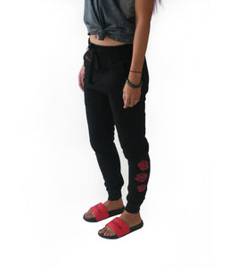 Graffiti Rose Jogger