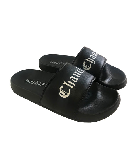CHANCLAS - BLACK/WHITE