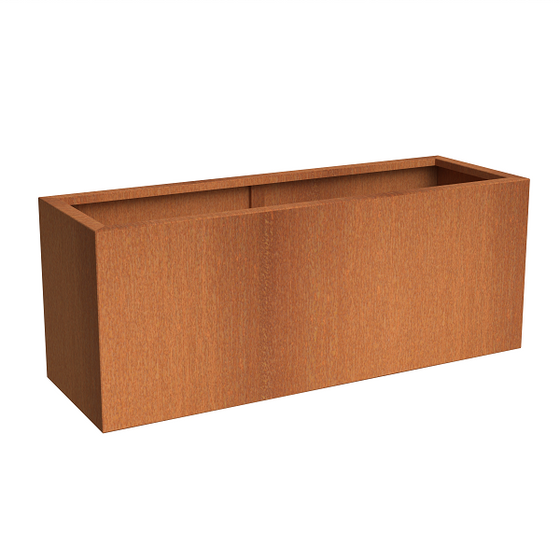 Corten Steel Trough Planter | Andes Trough | Garden Planter | Adezz Planter