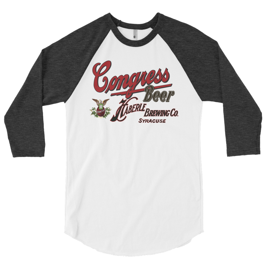 Vintage Congress Sign Design 3/4 sleeve raglan shirt