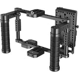 "Hollyland Monitor Cage with Rubber Handgrips for 5 to 9"" Monitors (V-Mount)"