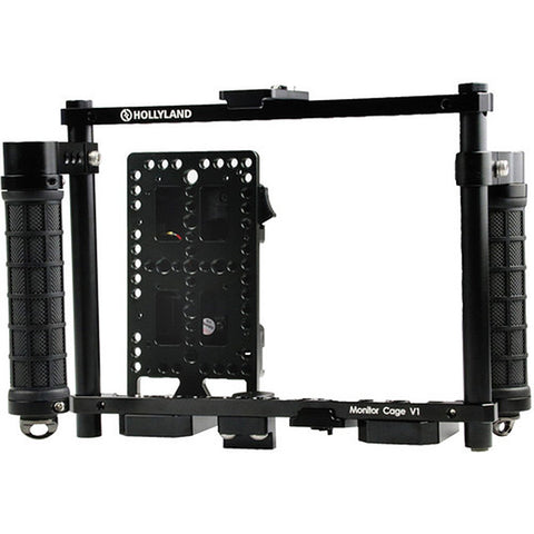 Hollyland Monitor Cage with Rubber Handgrips for 5 to 9