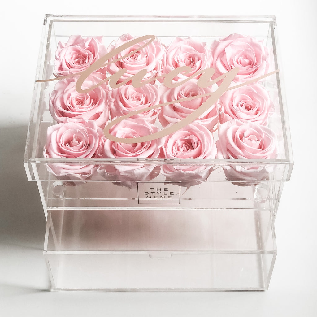 Rose box : pink ombré